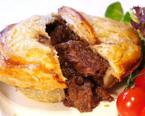 Great, now there's drool all over my keyboard... (steak and kidney pie by Goddards Pies)