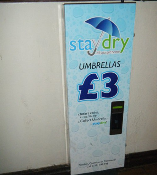 It rains so much that there are umbrella vending machines!