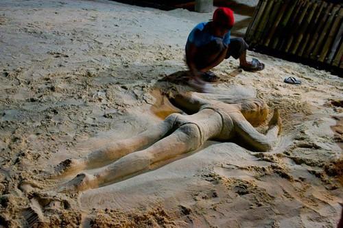 Sand sculpture art in Boracay