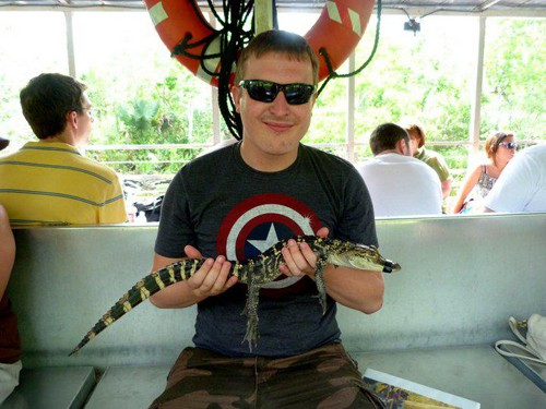 Lee and his gator friend!