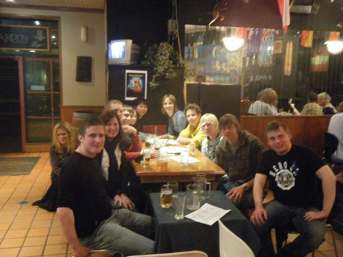 All of the backpackers working at Napier Prison in New Zealand went to a pub quiz every Thursday. It was good times!