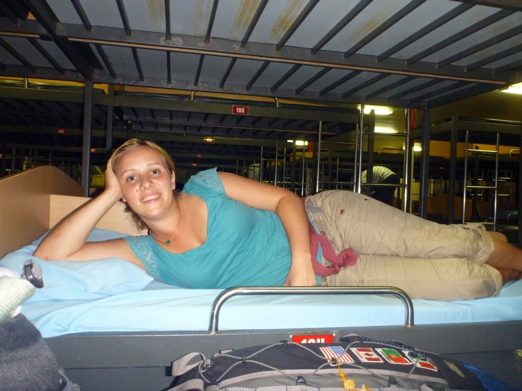 On the ferry from Manila to Boracay in the Philippines - it was like a floating hostel!