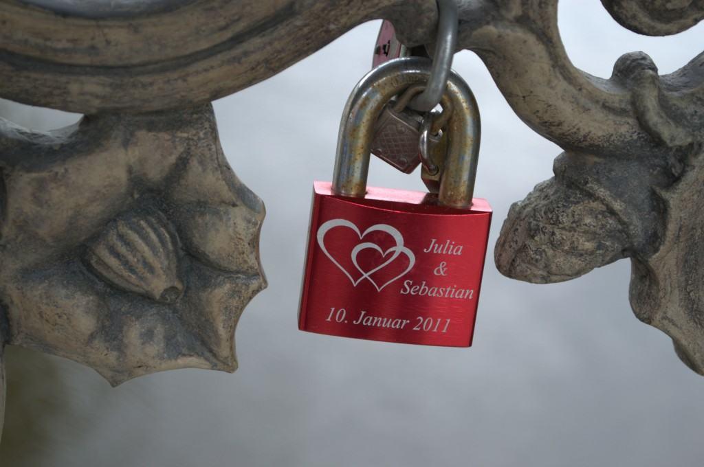 """Love Locks"" - Permanent displays of affection, seen on a bridge in Berlin, Germany"