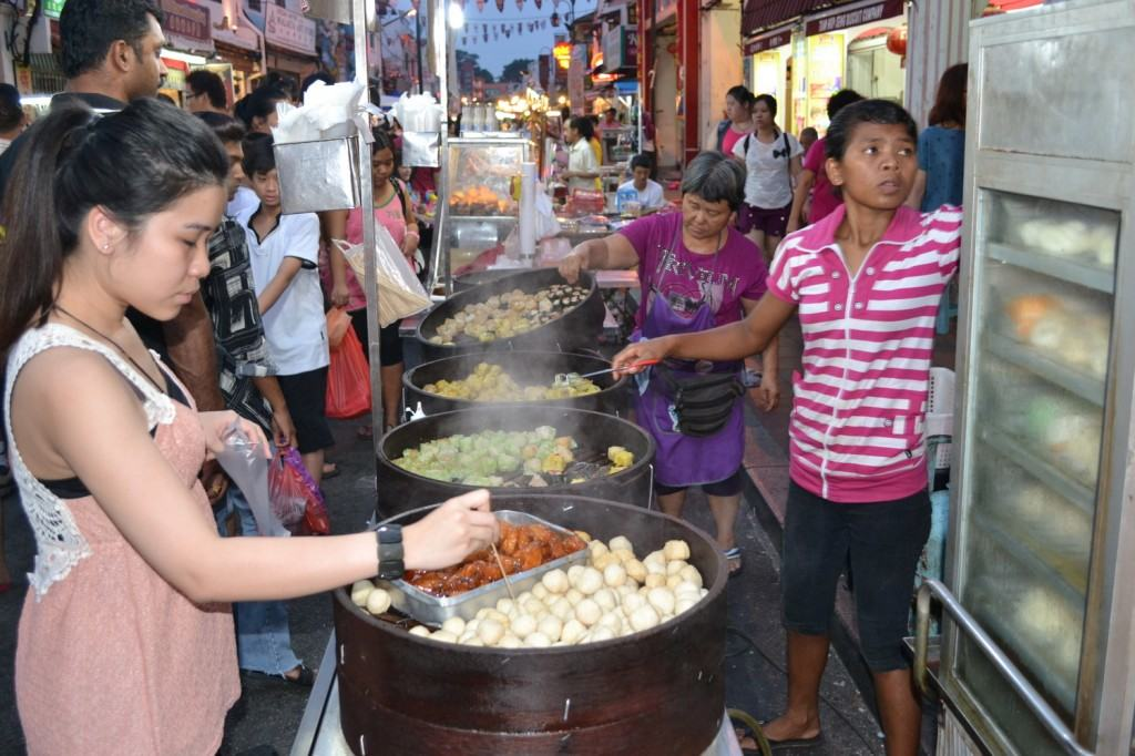 Delicious food at Jonkers Walk Market in Malacca, Malaysia