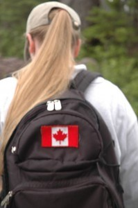 Be sure to add the obligatory Canadian flag on your backpack! - photo credit: nep via photopin cc