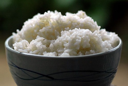 Simple plain white rice is a good thing to eat while your body recovers.