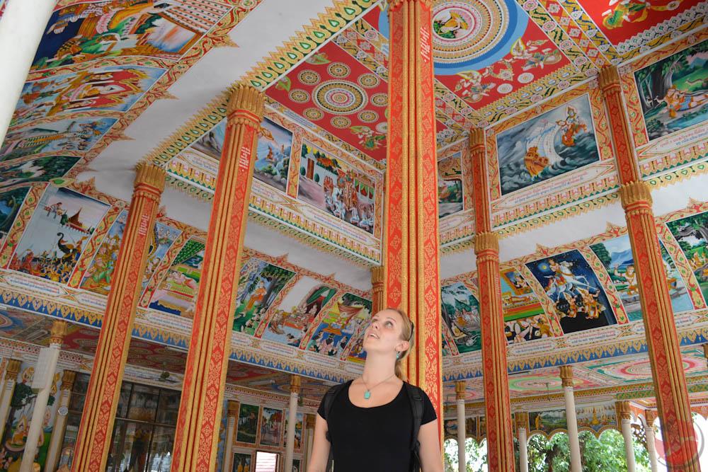 Laos Temple ceiling