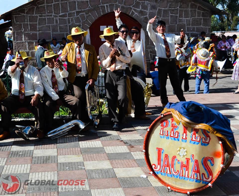 Musicians at the Fiesta de Virgen de Candelaria in Peru