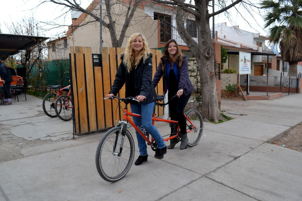 Tandem bikes sound fun in theory, but perhaps not after a few glasses of wine.