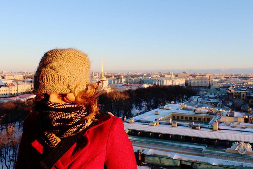 Words cannot explain how cold I was at this moment on top of St Isaac's Cathedral, St Petersburg.
