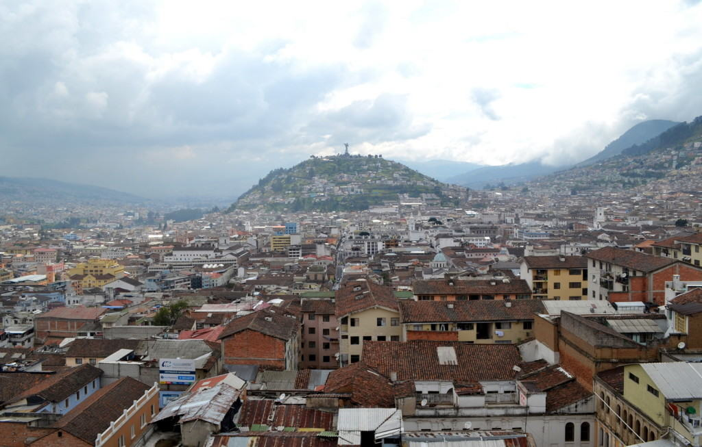 A view of Quito from the top of the basilica.