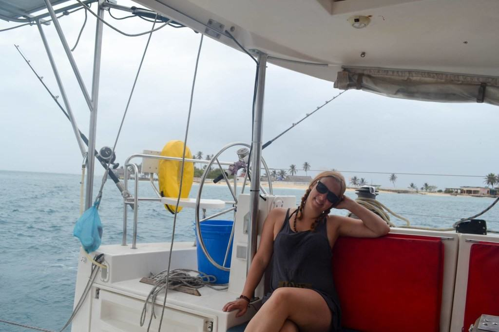 Feeling a lot better after I got used to the rocking of the boat!