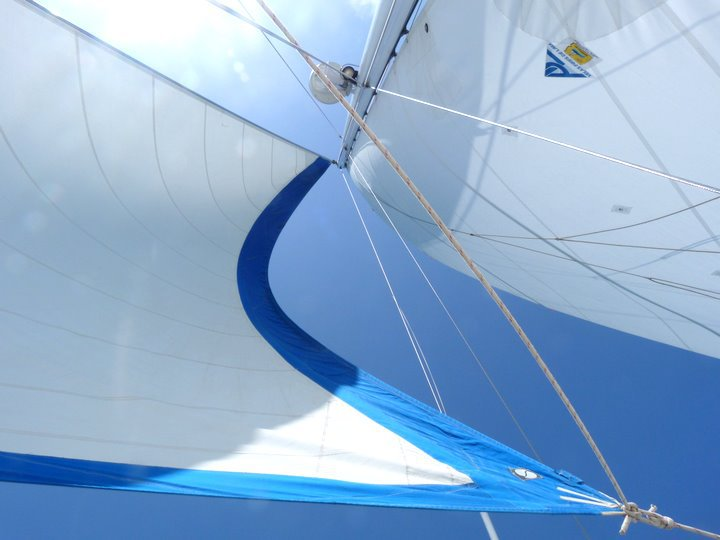 This was my view for most of the Portugal catamaran trip as I was lying on my back and trying not to move.
