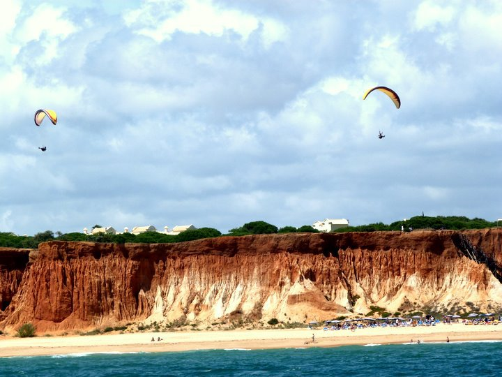 When I managed to sit up and look at the Algarve coast in Portugal, this is what I saw. Totally worth it.