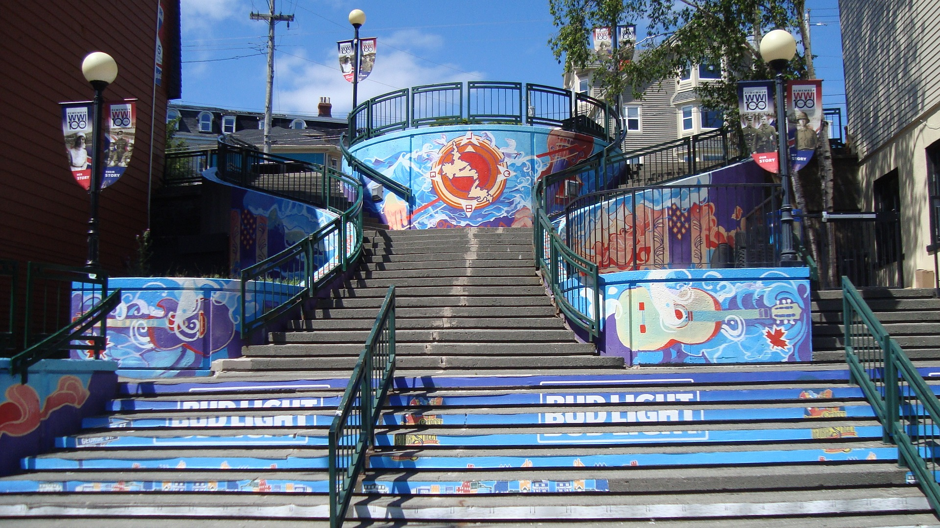 The steps on George Street