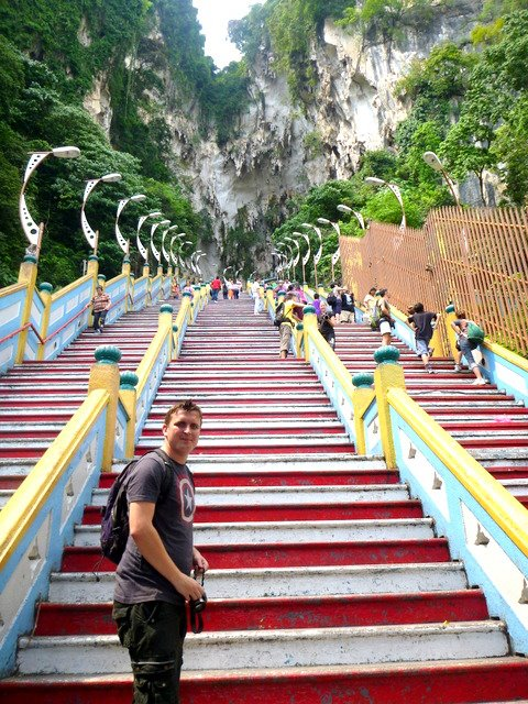 The stairs up to Batu Caves