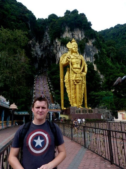 The entrance to Batu Caves