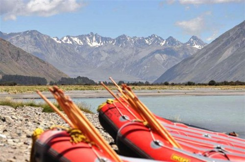 We went white water rafting while working abroad in New Zealand