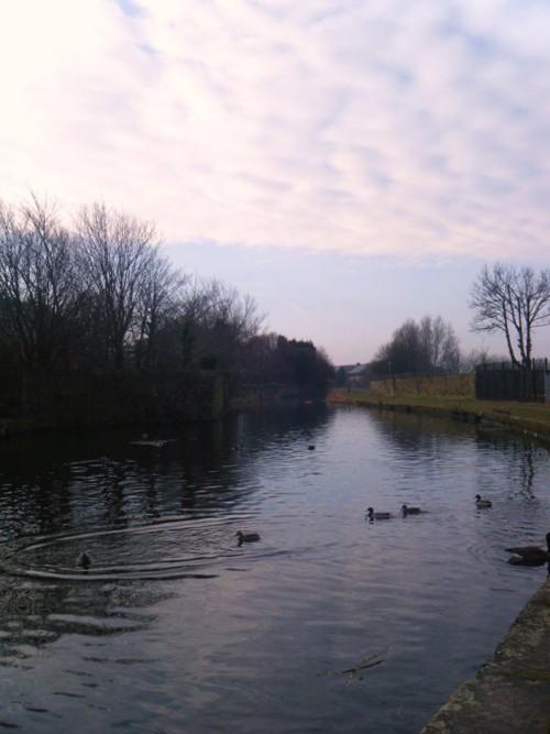 The Leeds to Liverpool Canal near Accrington, Lancashire