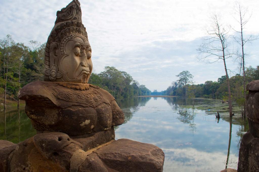 The moat around angkor thom
