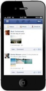 Smartphone on Facebook