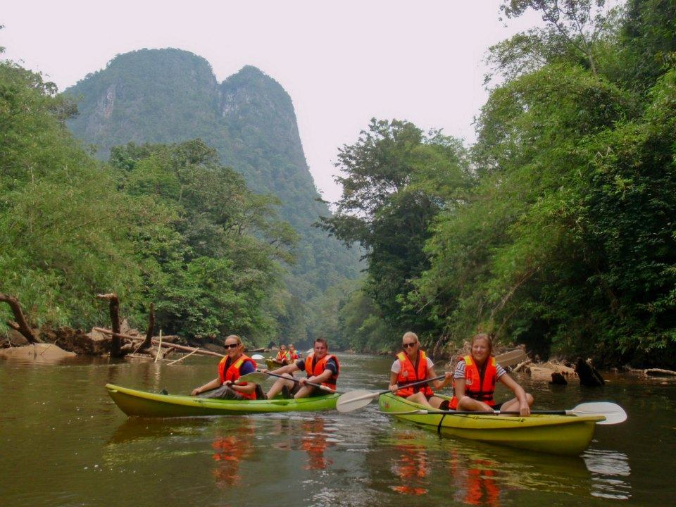 Kayaking in Malaysian Borneo