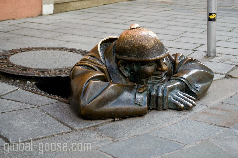 A cute sculpture we spotted on the walking tour.