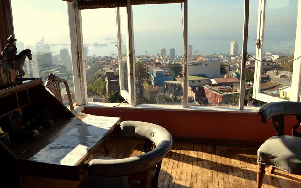 The view of Valparaiso and the Pacific that Neruda enjoyed while writing his poems.