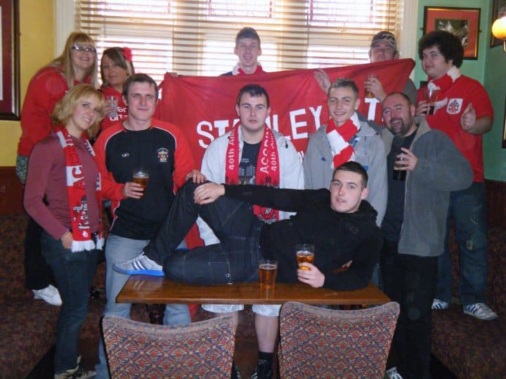 Some British Lads in a British Pub (Accrington Stanely away trip to Bournemouth)