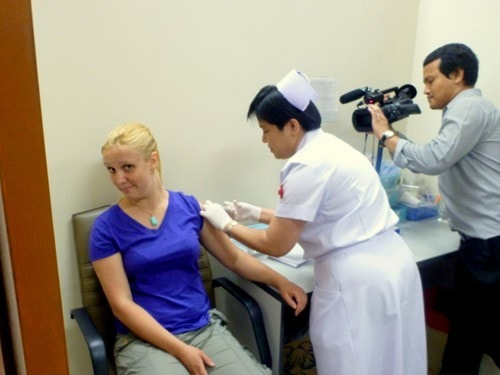 Getting My Travel Immunizations in Bangkok, On Camera!