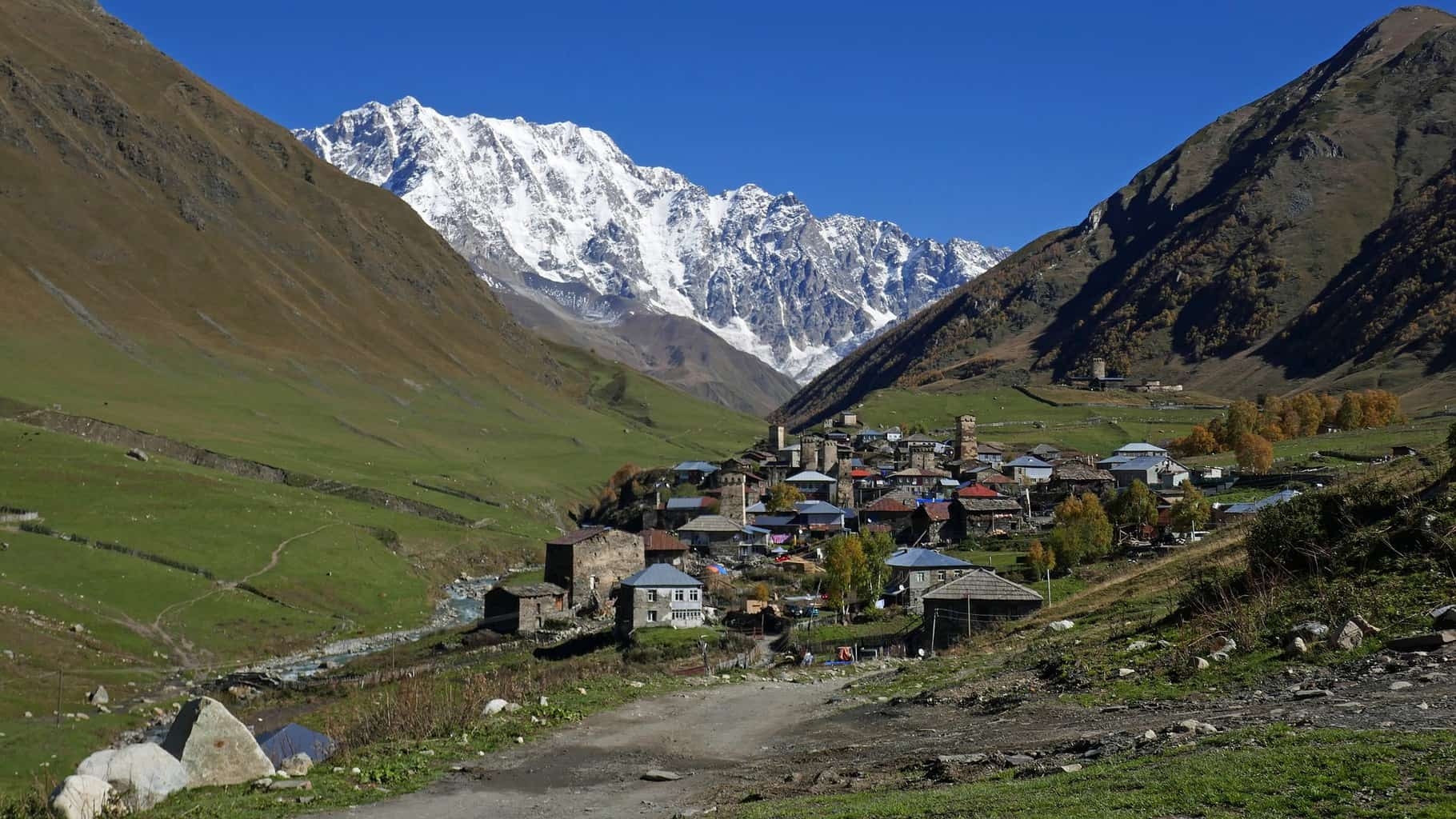 Svaneti, one of the regions of Georgia, the country
